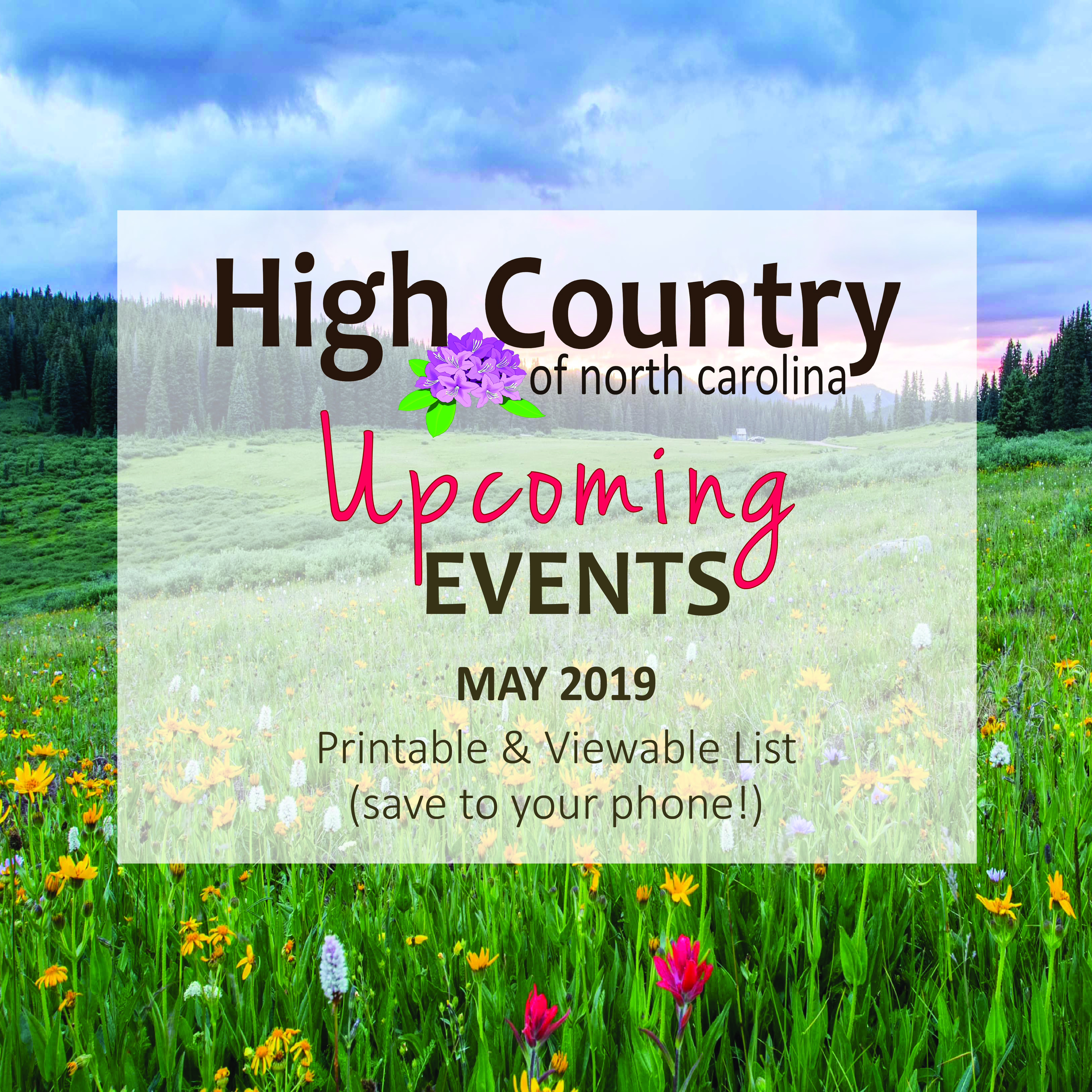High Country Events Calendar May 2019