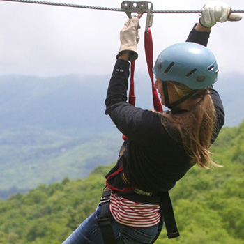 Ziplining High Country NC Mountains