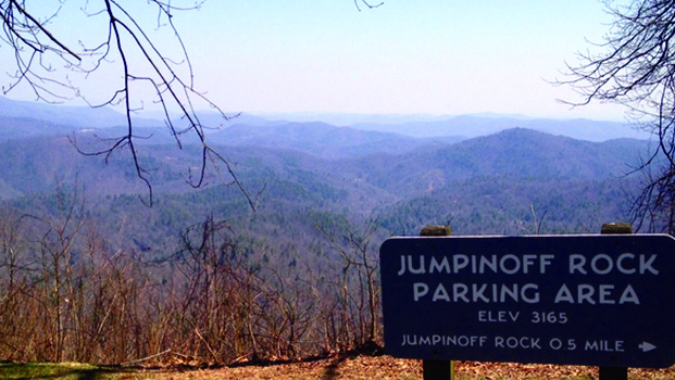 Jumpinoff Rock Trail Blue Ridge Parkway