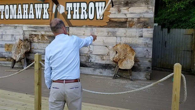 Mystery Hill Tomahawk Throwing