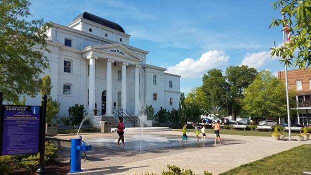 Wilkesboro Heritage Square Splash Pad