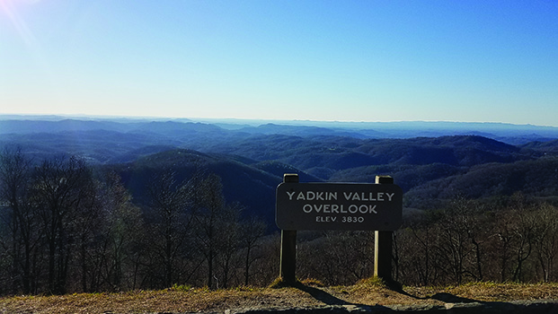 Yadkin Valley Overlook Blue Ridge Parkway